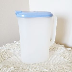 Vintage Tupperware Small Pitcher Container Blue